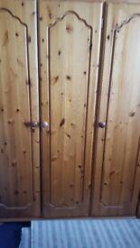 3 door pine wardrobes