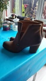 Clarks brown ankle boots ladies