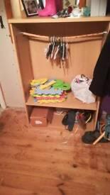Bookshelf / wardrobe utility unit
