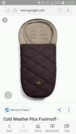NEW PLUM MAMAS & PAPAS COLD WEATHER FOOTMUFF