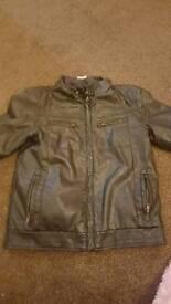 Children leather jacket