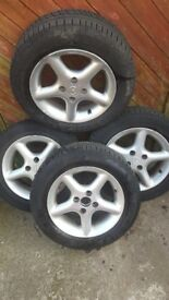 Mx5 alloy wheels woth almost new tyres
