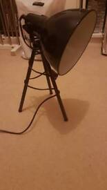 Black tripod lampshade small