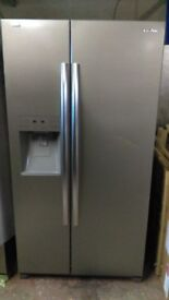 DAEWOO American fridge freezer, with water and ice dispenser, new Ex display