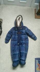 Pram/ snow suit 9-12 months