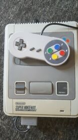 super nintendo uk pal with games