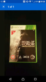 Medal Of Honour Limited Edition Xbox 360 Game With Box & Instructions