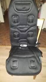 Heated massaging car seat cover