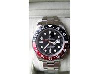 Rolex gmt ii master coke sapphire glass ceramic bezal 2.5x date magnification hravy in weight 150 g