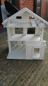 White Wooden Dolls House