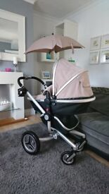 Silver Cross Surf 2 Pram & Travel System inc car seat and ISOFIX base. Sensible offers considered.