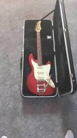 Tangelwood super six guitar incl case