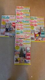 18 Home Style/ Style at Home Magazines
