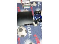 playstayion 3 slim 17 games 3 controllers