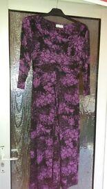 Per Una Purple & Black dress Size 12