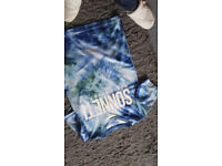 Sonetti blue/green pattern t shirt - age 10-12