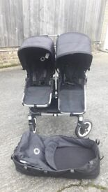 Bugaboo Donkey- Black Double Stroller with CAR SEAT ADAPTER + full accessories