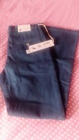Childrens Kangol Chino Jeans Size Junior 30 Brand New Blue RRP £29.99