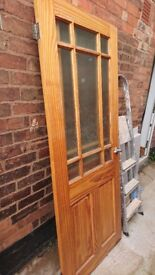 Pine wood doors (5s) with & without glass for sale,
