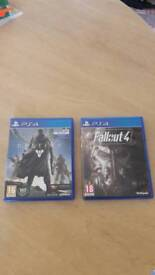 Destiny and Fallout 4 ps4