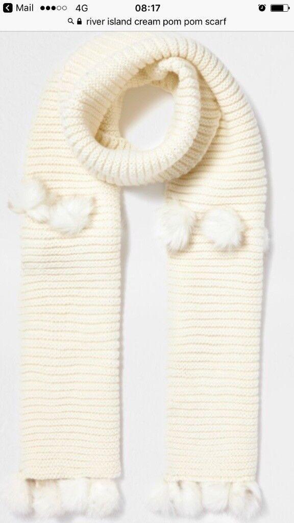 Ladies cream river island scarf