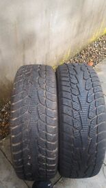 tyres 2x 195 60 15 winter like New