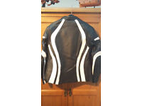 ladies motorcycle leather jacket BNWT