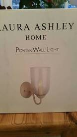 A pair of new Laura Ashley Porter wall lights