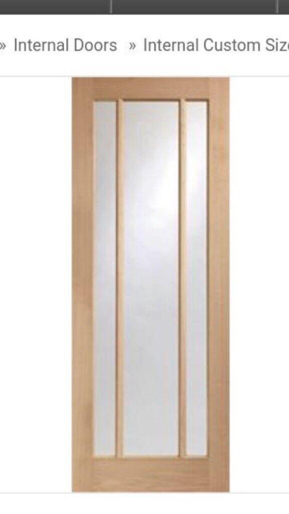 Worcester oak glazed internal doors