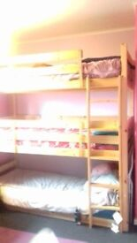 Tripple Bunk Bed for sale, almost new , with free mattress