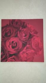 Set of 3 Red Rose Canvas' Excellent Condition Can Deliver Locally