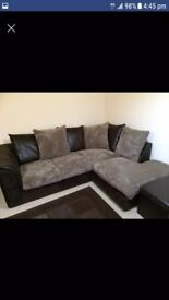 Excellent condition L shape sofa and foot rest