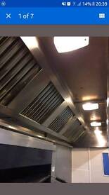 Commercial kitchen extraction canopy 3.6m wide