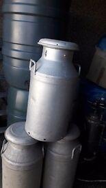 3 x 10 gallon milk churns
