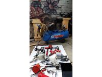 Clarke compressor and air tools standard elec plug type job lot working.