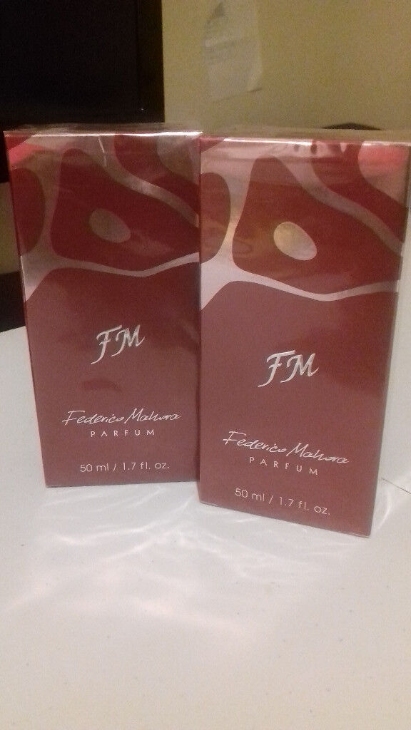 A mixed selection of men and women perfumes from Federico Mahora (FM) brand . Brand new unopened
