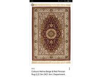 Red & beige Persian Rug