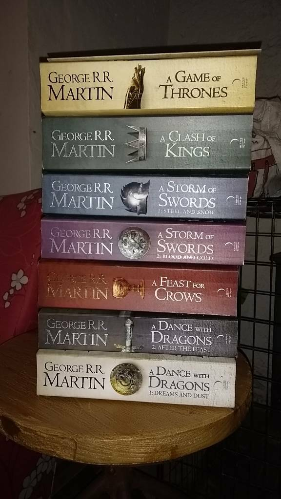 A song of ice and fire book set.
