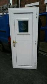 Pvc door with key and lock