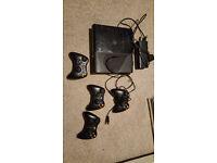 XBOX 360 Console + 4 remotes