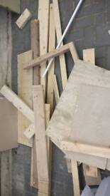 Free off cut timber fire wood