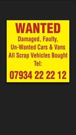 Scrap cars and vans wanted for cash in Huddersfield