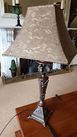 large ornate bronze table lamp ( pair available )
