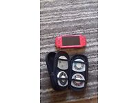 Red play station portable (psp) bundle great condition open to offers