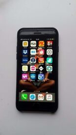 iPhone 6s 128GB , space grey, unlocked + Leather case + Cracked screen protector