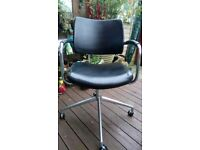 Boss black leather chair