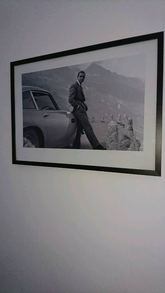 Sean connery framed picture