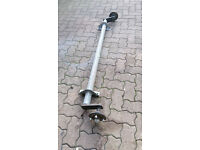 Galvanised trailer axle for boat