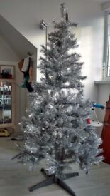 6ft Silver Grey Christmas Tree