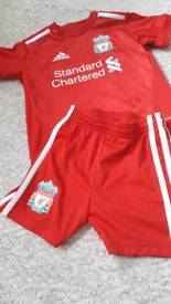 Liverpool Football Kit, age 12 - 18 months